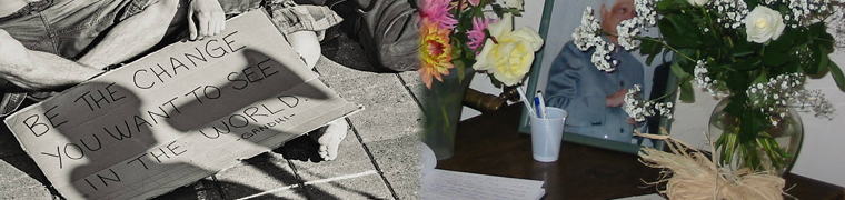 Collage showing Surur Hoda Memorial and Gandhi quote
