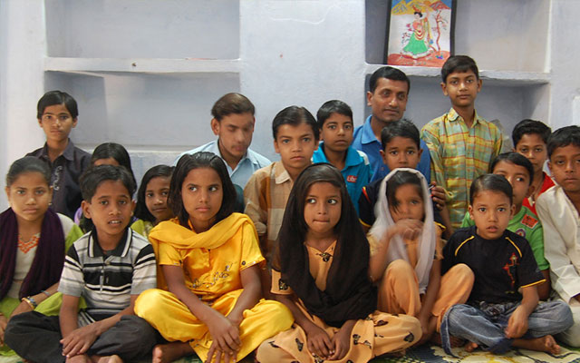 Pic showing some of the kids helped by the Patna project